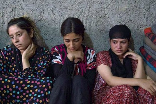 Islamic State 'fighters' have in their control around 1,800 Yazidi women and girls, whom they treat as property, including buying and selling. (AP photo from Facebook)