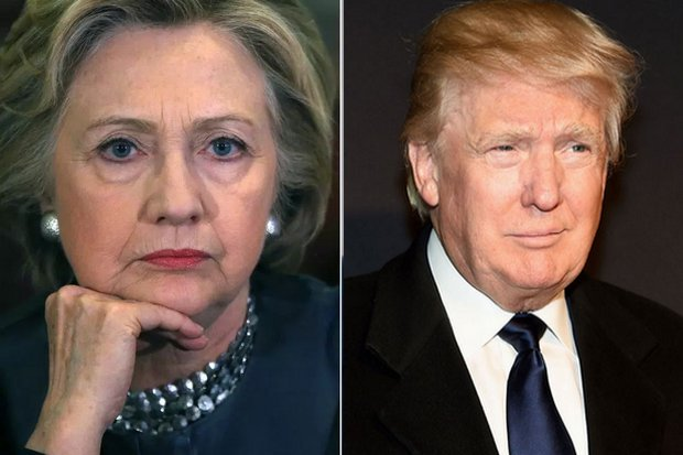 Candidates for president in the November 8 US election: Hillary Clinton (left) of the Democratic Party, and Donald Trump, representing the Republicans. (Agency photos)