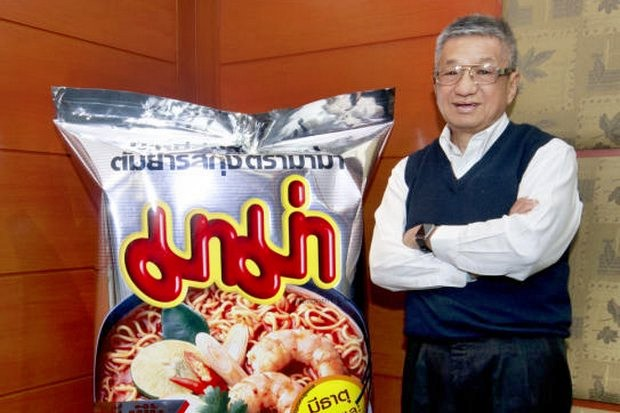 Former Asian Games medal winner Pipat Paniangvait is using his old sports network to push his Mama instant noodles to worldwide fame. (Photos courtesy Thai President Foods)
