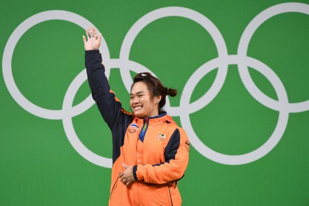 Sukanya Srisurat on the medal dais Tuesday morning (Thailand time): 'I never game up' (AFP photo)
