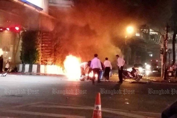 The most deadly bombing in recent history was the blast at the Erawan Shrine last Aug 17, which killed 20 people, almost all foreigners. (File photo)