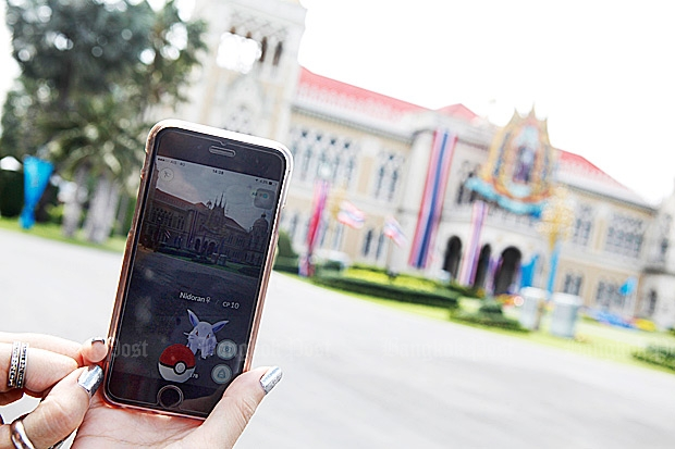 Tourism and Sports Minister Kobkarn Wattanavrangkul figures that putting rare Pokemon Go figures into tourist spots will cause visitors to forget about bombs. (Bangkok Post file photo)