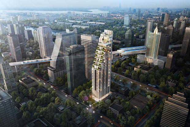 Muniq Sukhumvit 23, a 36-storey condo worth 2.8 billion baht, will be located on Sukhumvit Soi 23. (Photo supplied by the company)