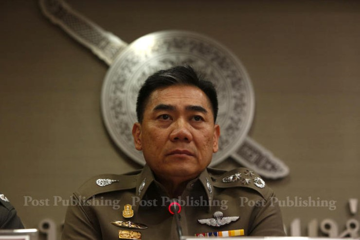 National police chief Chakthip Chaijinda says at least 20 trained men from the southern border provinces were involved in the Aug 11-12 attacks that killed four people and 37 others. (Bangkok Post file photo)