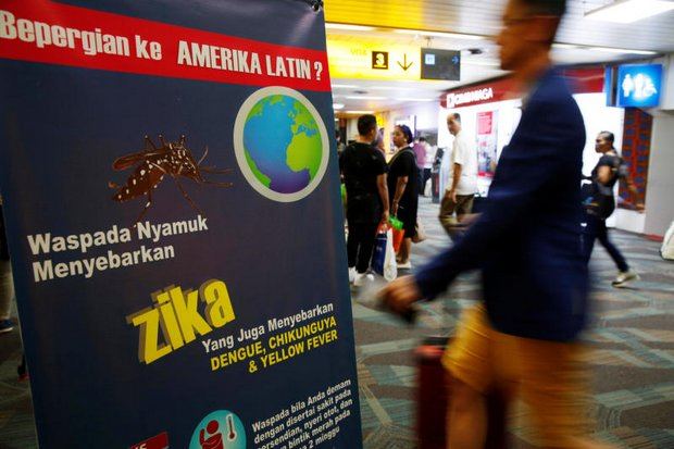 Singapore neighbours including Indonesia (above) are testing arrivals from the island state for the Zika virus upon arrival (Reuters photo)