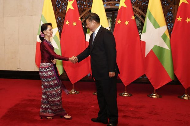 Myanmar leader Aung San Suu Kyi visited China last month, as if to reassure President Xi Jinping of her priorities. (Reuters photo)