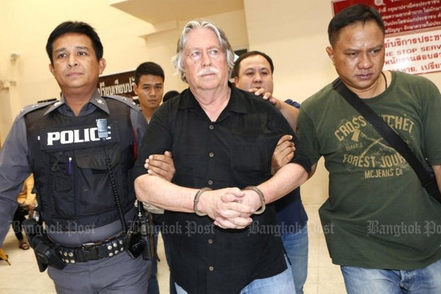 Several suspects in the case of the dismembered body in the freezer have been tentatively identified as US citizens, including this man, known as James Douglas Eger, 66. (Photo by Pattarapong Chatpattarasil)