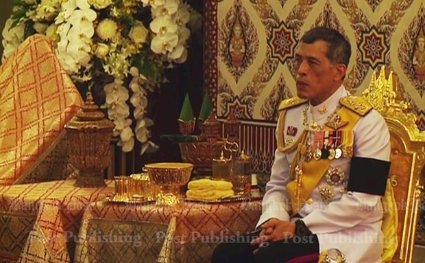 HRH Crown Prince Maha Vajiralongkorn, seen last night at the prayer ceremony for his late father, King Bhumibol Adulyadej. The prince has asked for time before ascending to the throne. (POST TODAY photo)