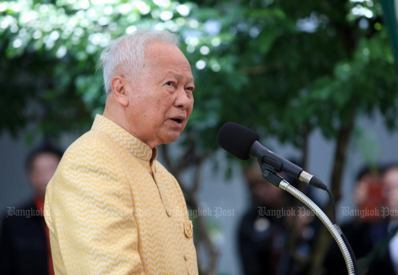 Regent pro tempore, Privy Council president Prem Tinsulanonda. (Bangkok Post file photo)