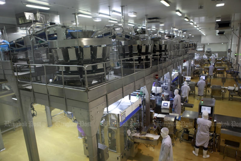 The general view of chicken processing factory of Charoen Pokphand Foods Plc in Nakhon Ratchasima. (Bangkok Post file photo)