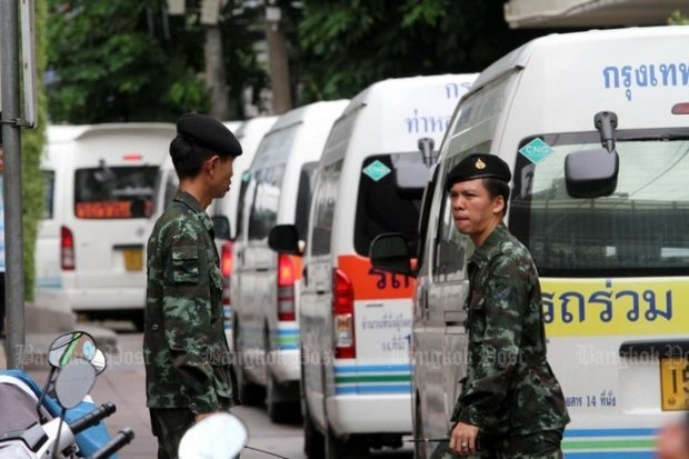 Soldiers have supervised the relocation of vans to bus terminals, with government accountants reckoning the re-regulation is saving operators 10% of their costs. (File photo)