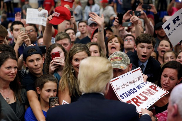 Donald Trump  succeeded with the deplorables by listening to them. (AP photo))