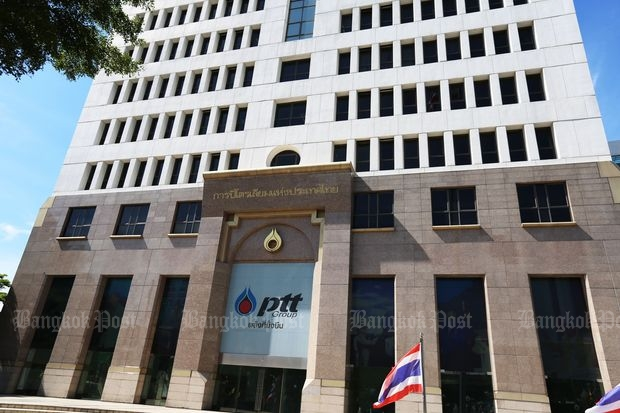 PTT Plc, the country's largest company, is 66% owned by the Finance Ministry and its funds as of Sept 5, 2016. (Bangkok Post file photo)