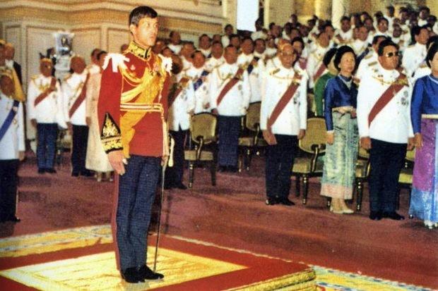 HRH Prince Vajiralongkorn became Crown Prince on Dec 28, 1972, upon his coming of age. (File photos)
