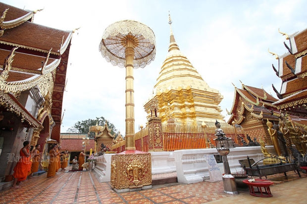 Wat Phra That Doi Suthep is an instant magnet for visitors to Chiang Mai. (Bangkok Post file photo)