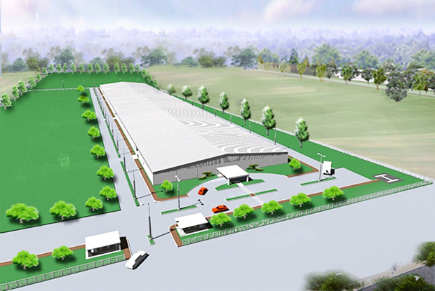 An artist's impression of the third Minebea plant in Cambodia. (Photo supplied by the company via Khmer Times)
