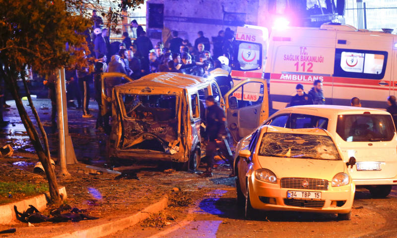 Double Istanbul bombings kill 29 after football game