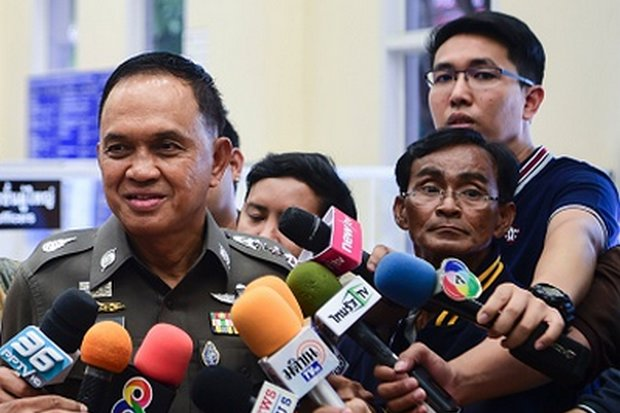 There has been nothing but a brusque 'no comment' from Bangkok police chief Sanit Mahathavorn since revelations of his hefty, monthly payment from Thai Beverage. (File photo by Tawatchai Kemgumnerd)