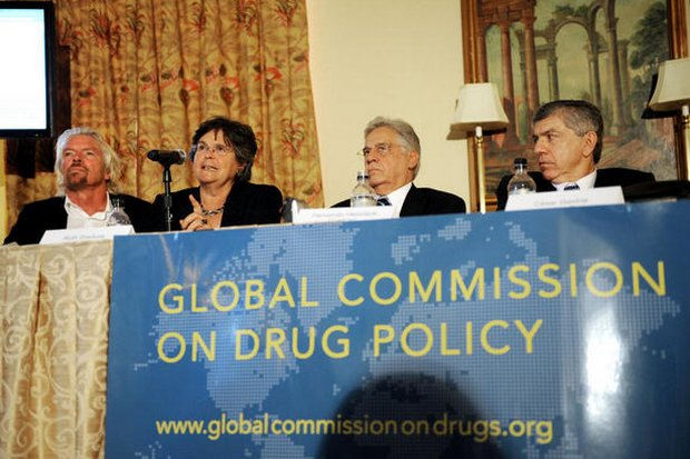 The call to decriminalise drugs and and the wars on drugs globally is supported by many top personalities. (Photo via GlobalCommissiononDrugs.org)