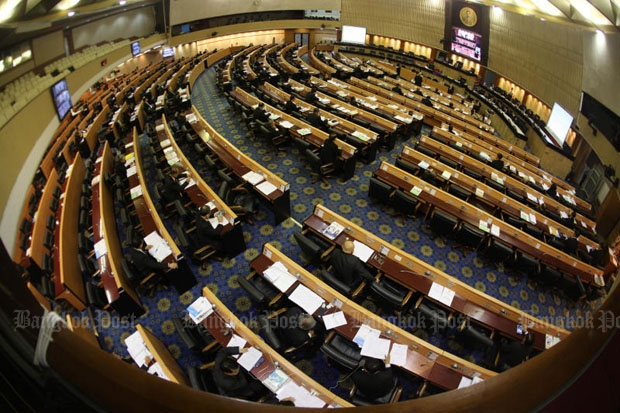 The National Legislative Assembly convened on Friday to unanimously pass the new Computer Crime Act. (Photo by Thiti Wannamontha)