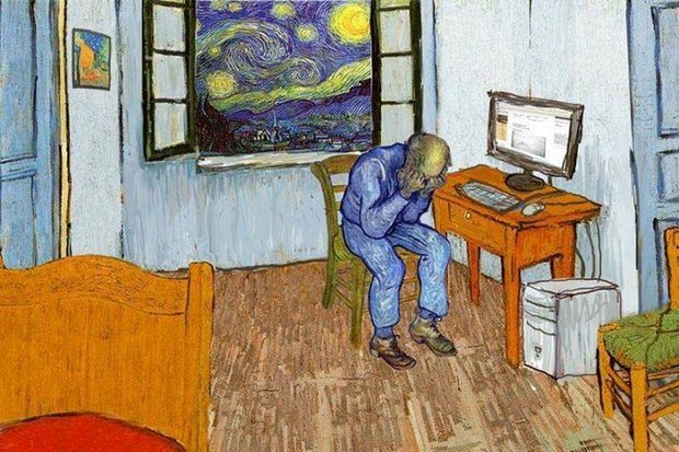 You can only use a computer to paint like Van Gogh if, first, there is a real Van Gogh. (GreatWallofMemes.com)