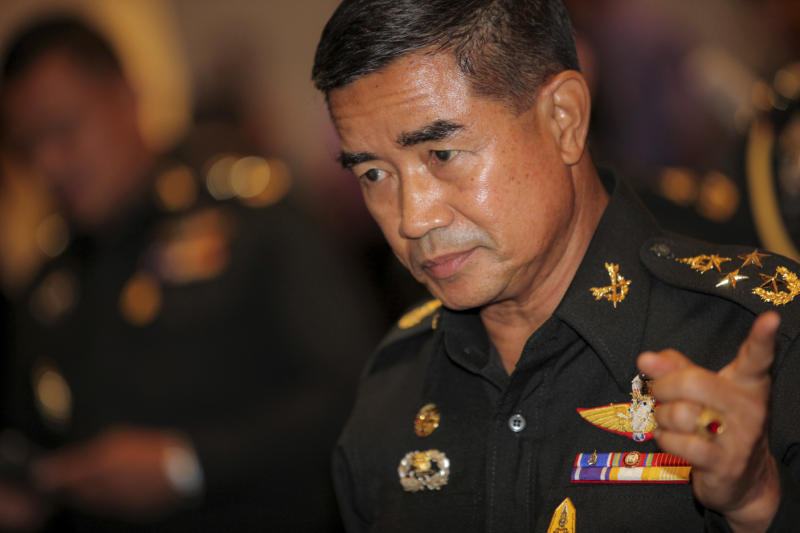 Army chief Gen Chalermchai Sittisat at the Army. (Bangkok Post file photo)