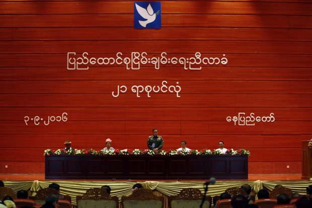 The Union Peace Conference-21st Century Panglong, held at Nay Pyi Taw last September, failed because of fighting between the army and ethnic groups - which continue today. (AP photo)