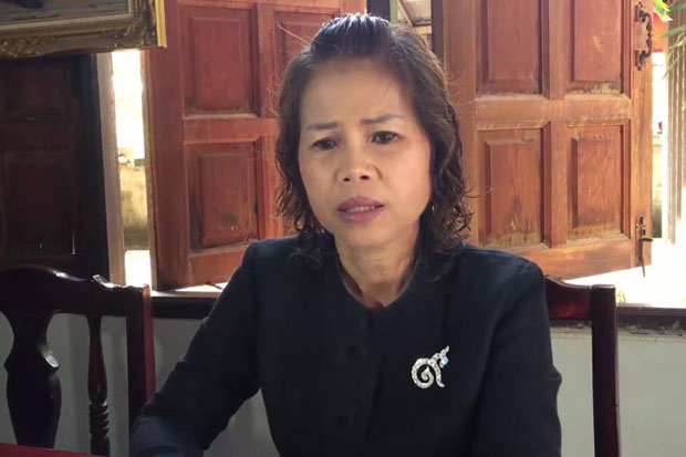 Teacher Jomsap Saenmuangkhot, 54, was convicted and spent 18 months in prison for a crime it later emerged she did not commit. (Photo by Pratuan Kajornwuthinan)