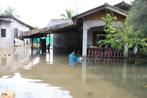 Flooded homes in Muang district, Narathiwat (Photo: Post Today)