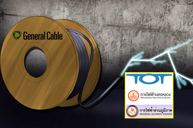 Three state-owned firms were allegedly receiving kickbacks from the US company in return for buying its electricity and telephone cables. (Main photo via General Cable Corp)