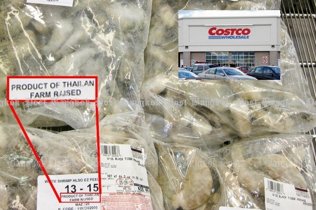 The California lawsuit alleged that Costco should have informed consumers their Thai shrimp was produced by forced labour. (File photo)