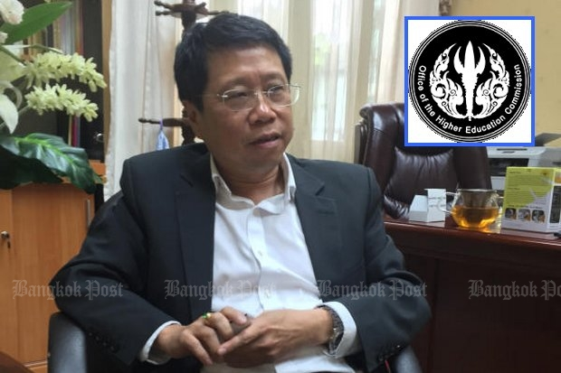 Education Minister Teerakiat Jareonsettasin and his ministry propose splitting off Ohec into another ministry to meet the 'crisis' of higher education. (File photo by Nanchanok Wongsamuth)