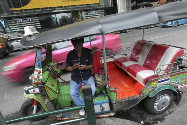 Safer than a motorcycle, cheap to maintain, able to take punishment and keep on driving, the tuk-tuk is seemingly more loved in the world than at home here in Thailand. (Bangkok Post file photo)