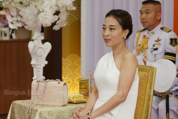 HRH Princess Bajrakitiyabha presides over the opening of the Chann Shop, which sells prison-made products, at Suvarnabhumi airport in February, 2016. (Bangkok Post file photo)