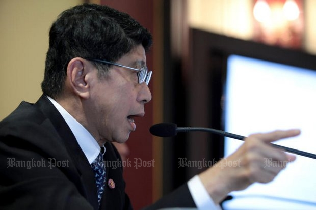 Wissanu: Elections will be 'one year from today' - maybe. (Bangkok Post file photo by Chanat Katanyu)