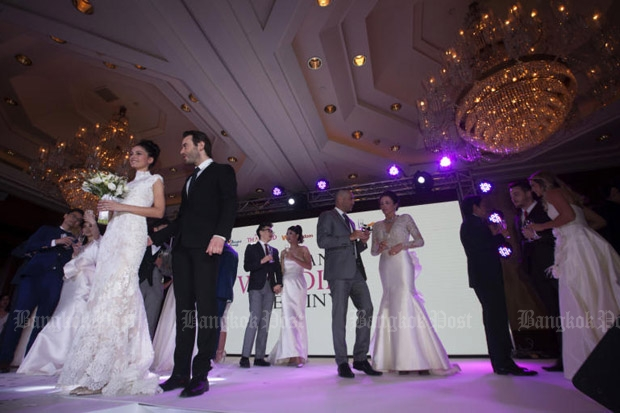 The Tourism Authority of Thailand organised the Thailand Wedding Destiny event in Bangkok on Wednesday, to promote the country as a destination for couples to get married. (Photo by Pawat Laopaisarntaksin)