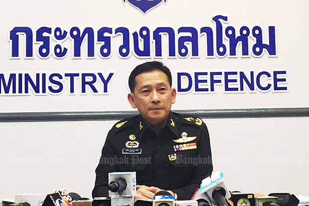 Defence spokesman Kongcheep Tantrawanit (photo by Wassana Nanuam)