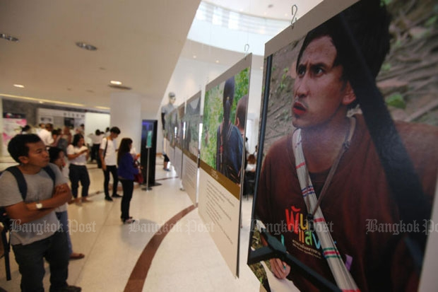 We All Billy exhibition was held in Bangkok in 2014 in commemoration of disappeared Karen activist Porlajee. (Bangkok Post file photo)