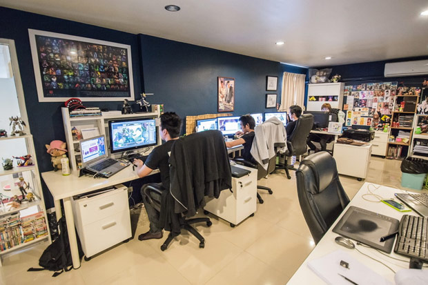 Final Fantasy is among the top-rated games produced at Studio Hive in Bangkok. (Photo courtesy of Studio Hive)