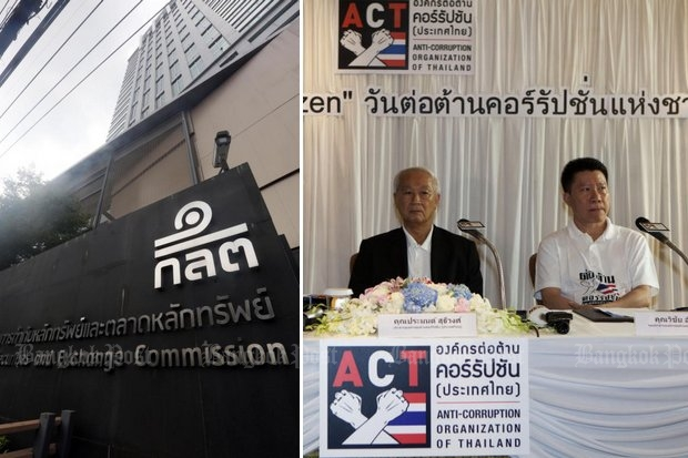The Securities and Exchange Commission has made a pact with Pramon Sutivong and his public-sector Anti-Corruption Organisation of Thailand (ACT) to try to make listed stock exchange companies honest. (File photos)