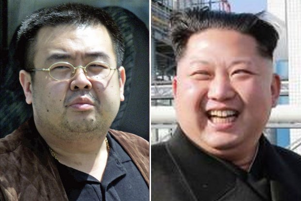Kim Jong Nam, left, probably was killed on orders from his dictator half-brother Kim Jong Un, but Malaysian forensic specialists are trying to discover the exact poison used. (Agency photos)