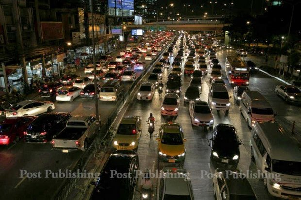 Thailand's traffic congestion has been judged worst in the world by the INRIX survey. (Bangkok Post file photo)