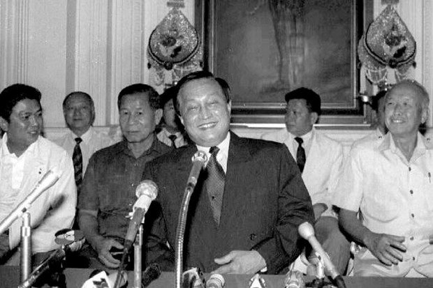Gen Suchinda Krapayoon and his 1991 junta mates thought they were popular, and had the polls to prove it. But the people turned against them violently when they broke their promises to return to the barracks, and tried to hold onto power indefinitely. (File photo)