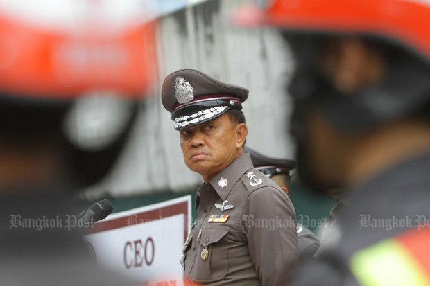 The story told by Metropolitan Police Bureau chief Sanit Mahathavorn that ThaiBev paid him 50,000 baht a month has collapsed, raising the issue of where the money comes from. (Bangkok Post file photo)