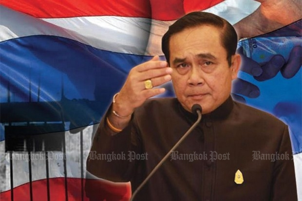 The prime minister has asked all Thais to make sacrifice for the nation in order to raise 100 billion baht for unspecified projects by raising the value-added tax by 1%. (Post Today graphic)