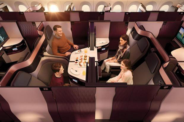 Qatar Airways on Wednesday premiers its patented new business class suites which look like first-class suites of many class-leading rival carriers. (Qatar Airways photo)