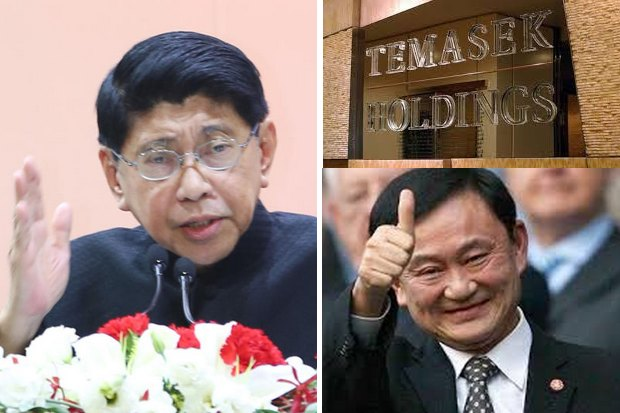 Deputy Prime Minister Wissanu Krea-ngam insists government can recover taxes now estimated at 16 billion baht from ex-premier Thaksin Shinawatra, gained from his 73-billion baht stock sale in 2006 to Temasek Holdings of Singapore. (File photos)