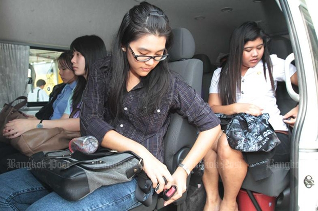 All passengers must now use their safety belts. (Bangkok Post file photo)