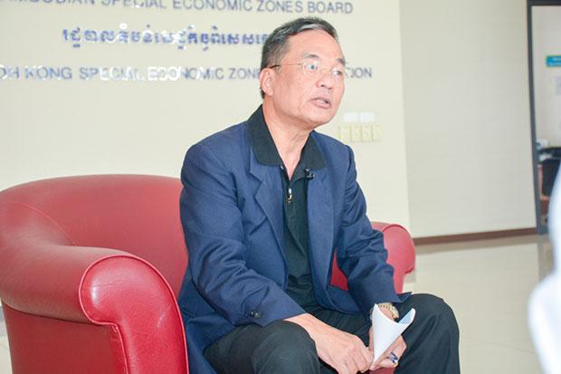 Thitidej Tongpatana, vice president of the Koh Kong Special Economic Zone. (Khmer Times photo)