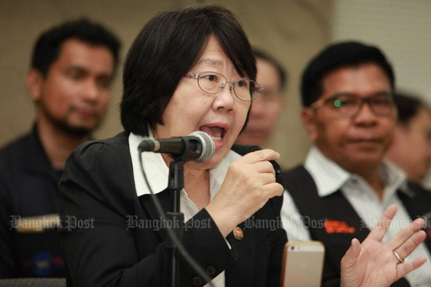 Activists including ex-senator Rosana Tositrakul of the People's Alliance for Energy Reform (PAER) have long claimed that the old Petroleum Act was unfair to Thailand. (Photo by Wichan Charoenkiatpakul)